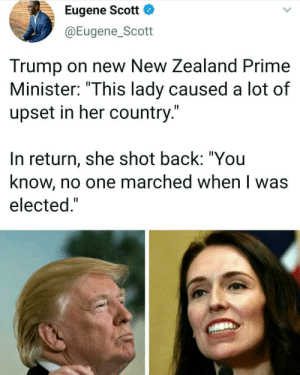 A throwback to Jacinda Ardern not taking it from Trump: A throwback to Jacinda Ardern not taking it from Trump