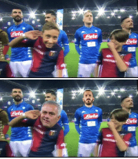 Memes, 🤖, and Mourinho: A TIM  TIM  ete   ete Kid doing a Mourinho in Genoa (📷: @Skricardi ) https://t.co/AjxSIuGFXl