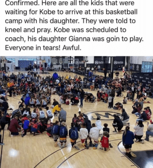 A tragic day for the basketball community. Rest in peace to Kobe & Gianna Bryant as well as the other victims of the crash 🙏 https://t.co/1V3sEeJlsy: A tragic day for the basketball community. Rest in peace to Kobe & Gianna Bryant as well as the other victims of the crash 🙏 https://t.co/1V3sEeJlsy