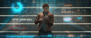 """Ever wondered why Peter Quill could understand Groot (and all the other aliens) in Guardians of the Galaxy (2014)? It's because he has a translator implant! Bonus Detail: Nova Corps has his alias wrongly listed as """"Space-Lord"""".: A UPLINK.  EM 56  SEQUENCING  M.GYN //WE POS2  OBE 43  R.R  14235  PETER JASON QUILL  EMI 4304ea  ALIAS: """"SPACE-LORD  ORIGIN: TERRA  LENGTH 304 MICROBULES  WEIGHT. 1419 GREI6  LEGS: 2  ENHANCEMENTS:  TRANSLATOR IMPLANT IN NECK  ANALYSING  0.21  0.10  0.12  0.15  0.31  0.37 Ever wondered why Peter Quill could understand Groot (and all the other aliens) in Guardians of the Galaxy (2014)? It's because he has a translator implant! Bonus Detail: Nova Corps has his alias wrongly listed as """"Space-Lord""""."""