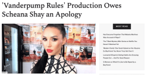A Vanderpump Rules editor, Bri Dellinger, has officially confirmed the dirty secret we already knew: reality TV is manipulated.In a recent podcast interview, she dropped a bit of a bomb: Bri has been intentionally editing the show to humiliate Scheana. The episode has mysteriously gone missing from Apple podcasts — undoubtedly Bravo trying to cover up — but not before Page Six wrote down the juiciest details.Read it Here: A Vanderpump Rules editor, Bri Dellinger, has officially confirmed the dirty secret we already knew: reality TV is manipulated.In a recent podcast interview, she dropped a bit of a bomb: Bri has been intentionally editing the show to humiliate Scheana. The episode has mysteriously gone missing from Apple podcasts — undoubtedly Bravo trying to cover up — but not before Page Six wrote down the juiciest details.Read it Here