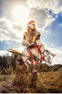Zero, Cosplay, and Dawn: A very accurate Aloy [Horizon Zero Dawn] cosplay. https://t.co/HH8iwN9lkP