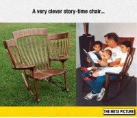 srsfunny:  Story-Time Chair: A very clever story-time chair...  THE META PICTURE srsfunny:  Story-Time Chair