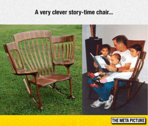 srsfunny:Story-Time Chair: A very clever story-time chair...  THE META PICTURE srsfunny:Story-Time Chair