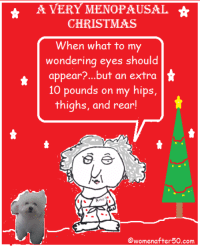 Memes, 🤖, and Menopause: A VERY MENOPAUSAL  CHRISTMAS  When what to my  wondering eyes should  appear  but an extra  10 pounds on my hips,  thighs, and rear!  Owomenafter50 com