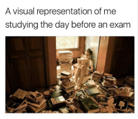 Books everywhere! 😂: A visual representation of me  studying the day before an exam Books everywhere! 😂
