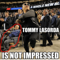 Psy visited Dodger stadium: A WHOLE NEWBL.  TOMMY LASORDA  IS NOTIMPRESSED Psy visited Dodger stadium