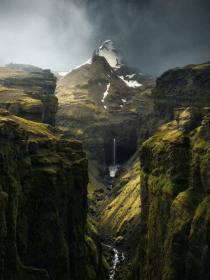 Iceland, Magic, and World: A world in which elves exist and magic works - Múlagljúfur Canyon, Iceland. BY Arnar Kristjansson,