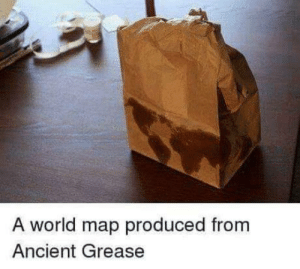 Puntastic.: A world map produced from  Ancient Grease Puntastic.