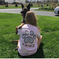 """Thanks @nicole_collier12 for the support in our grapefruit mosaic shirt! Order now at PawzShop.com for FREE shipping 🐾🐶 use code """"Pawz"""" at checkout for discount 🐩: A WZ Thanks @nicole_collier12 for the support in our grapefruit mosaic shirt! Order now at PawzShop.com for FREE shipping 🐾🐶 use code """"Pawz"""" at checkout for discount 🐩"""
