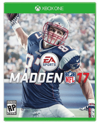 Rob Gronkowski is your 2017 Madden cover athlete! #GronkSpike: A XBOXONE  SPORTS  MADDEN  RATING PENONG  RP  ESFR 3 Rob Gronkowski is your 2017 Madden cover athlete! #GronkSpike