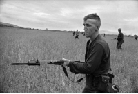 A young Marine goes into battle. Vietnam, 1965.: A young Marine goes into battle. Vietnam, 1965.