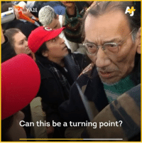 Memes, 🤖, and Can: A11  Can this be a turning point? Native elder Nate Phillips explains why he stood in front of the teens in MAGA hats. indigenouspeoplesmarch humanrights natephillips