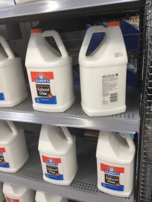 Forbidden milk jugs: A130171-L2  A120171-51  Washable No Run  ELMERS School Glue  ideal for Children Dries Clear  Safe, Non-Toxic  USES: Bonds most porous materials such as paper and  doth, and semi-porcue naterials such as wood and  pottery  TO OPEN/CLOSE: Tst cap to open Aeays dese cap  bightly and store upigh  APPLICATION: Use on dean, dry surfaces over 60  For paper doth, et sorad thinly-press-let dry For  Wood pattery etc spre d heavily-weight or damp  wait 35 minutes (ovemight for full strength)  CLEAN-UP: Use a damp doth before glue dries  dried, wash witn snap and water  TO WASH: Pre-sOrk 1C minutes in cold water Folow  garment maker washir, instructions  CAUTION:Do not dry dea  NOTE: Not for photos  bare metal, submerged  or heated surfaces  KEEP FROM FREEZING  Visit us at  www.elmers.com  Adjustable Before Setting  ELMER'S  EE  Washable, No Run  School  Glae  Teacher  Brand  AUD4  oo  Ditibued by  Safe, Non-Toxic  LMERS PROOUC  S PE  AP  CH 4302  MADE  C20 mer's Prducts Ins  Reorder No. E340  1GAL378L  'S  Ran  pol  e  ELMER'S  Tacber  Taio  Washable, No Run  School  Glue  ELMER'S  Washable, No Run  Teacher  Brand  Safe, Non-Toxio  School  Glue  AP  #1  Teacher  Brand  Safe Non-Toxic  M  AP  1BAL E7  SERS O Forbidden milk jugs