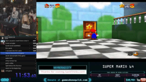 Gif, Super Mario, and The Game: A3  OUPR MARO 4  Come out pipe  bomb bemb bateeld  seconds into  second half  of the game  gobi's valley  igh betore the final bos  returm to the beginning  endgame  SUPER MARIO b4  WAYNERADIOTV  Thanks for visiting SackTricks.com  GLITCHES-  11:53.60  GER  《Donate at gamesdonequick.com》  $30,951 You Tuue beatlesweatles: wayneradiotv: thanks