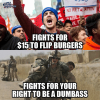 #TRUTH: a829strike  LOUDER  CROWDER COM  RET ALTON  NO  FIGHTS FOR  S15)TO FLIP BURGERS  FIGHTS FOR YOUR  RIGHT TO BE A DUMBASS #TRUTH