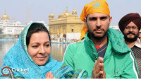 Memes, 🤖, and Yuvraj Singh: AACricket  Shots Yuvraj Singh With His Mother At Golden Temple.