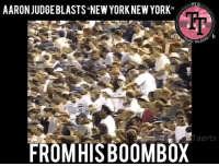 "Aaron Judge and his boombox can suck my d!ck #YaBettsBelieve: AARON JUDGEBLASTS""NEW YORK NEW YORK"" V  MLB  TR  ASH TA  Taerts  FROMHIS B00MBOX Aaron Judge and his boombox can suck my d!ck #YaBettsBelieve"