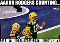 💀 https://t.co/RmRx2WTyAM: AARON RODGERS COUNTING.  FOX NFL  @NFLMEMEZ  ALL OF THE CRIMINALS ON THE COWBOYS 💀 https://t.co/RmRx2WTyAM