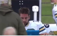 Aaron Rodgers, Football, and Nfl: Aaron Rodgers looking at the Packers record.. https://t.co/8b93uX8S9s