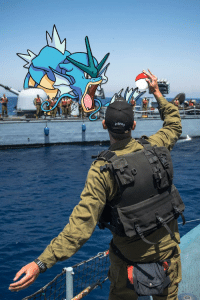 "The Israeli Navy uploaded this to facebook with the caption, ""There are Pokemons only we can catch"": Aaron The Israeli Navy uploaded this to facebook with the caption, ""There are Pokemons only we can catch"""