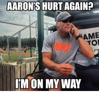 THE COMEBACK, PART 3 😂 🤣: AARON'S HURT AGAIN?  AME  TO  NIKE  @NFL MEMES  M ON MY WAY THE COMEBACK, PART 3 😂 🤣