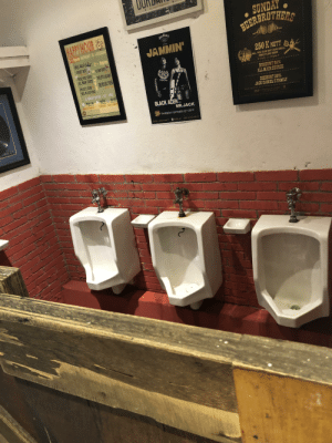 At a bar in Indonesia in an open hallway to the women's' restroom. Nothing like the girls I'm trying to pick up seeing me piss away my whiskey.: AASQFRs  SUNDAY  BEEREROTHERS  HAPYHOUR &  JUKDANES  S-9pm MONDAY 1O SAURDAY  FREE VALET -9pm  DCKET BEER  JAMMIN'  CUSE  250 K NETT  OPECAL POICE CO  ALL MAIN COURSEU  ALL YOU CAN EAT OUR GRILL  FREE FLOW BEER  Uply 3-10 p  DISCOUNT 20%  ALL MAIN COURSE  LRAGHT OEER BUY GET FREE  AA  DISCOUNT 20%  JACK DANIEL'S FAMILY  BLACK ALIEN  RSVP  MR.JACK  RTHURSDAY OKTOBER 03  2019  Qu B  CERNE 1  OURBR  ఇా At a bar in Indonesia in an open hallway to the women's' restroom. Nothing like the girls I'm trying to pick up seeing me piss away my whiskey.