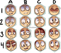 Target, Tumblr, and Blog: AB C  D  @Rosswel rosswelm:  I made an expression sheet!! Feel free to use but PLEASE CREDIT ME.