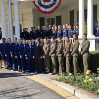 "Memes, 🤖, and Vice: Aba Karen Pence, the wife of VP MikePence, tweeted this photo from a reception at the Vice President's Residence for a group of servicewomen. It included this message: ""Thank you for your service!!! WomensHistoryMonth"""
