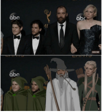 Abc, Memes, and The Hound: abc  ab  SUBSCRIBE  abe They look like Hobbits next to the Hound and Brienne https://t.co/hblVD9AyqX