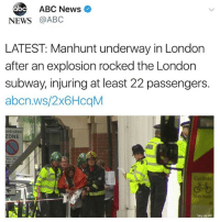 According to ABCNews, a manhunt is currently underway in London for suspects following the explosion of a bucket bomb on a train during rush hour this morning injuring 22 people! Our thoughts and prayers go out to the victims and their families 🙏🇬🇧 @ABCNews WSHH: abc  ABC News  NEWS @ABC  LATEST: Manhunt underway in London  after an explosion rocked the London  subway, injuring at least 22 passengers.  abcn.ws/2x6HcqM  ntrolled  ZONE  dも  Sky via AP According to ABCNews, a manhunt is currently underway in London for suspects following the explosion of a bucket bomb on a train during rush hour this morning injuring 22 people! Our thoughts and prayers go out to the victims and their families 🙏🇬🇧 @ABCNews WSHH