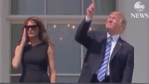Most Hilarious Memes About Trump Looking Directly At Eclipse Without ...: abc  NEWS Most Hilarious Memes About Trump Looking Directly At Eclipse Without ...