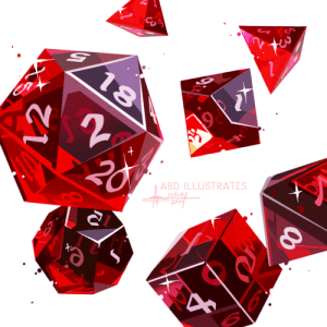 abd-illustrates:  Close-up of some dice I just finished painting as part of a commission! ✨🎲    (DON'T EDIT/REPOST TO OTHER SITES)    : ABD ILLUSTRATES  slo4  2p abd-illustrates:  Close-up of some dice I just finished painting as part of a commission! ✨🎲    (DON'T EDIT/REPOST TO OTHER SITES)