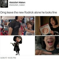 Today was frustrating but at least all my grades went up: Abdullah Maken  @abdullah maken  Omg leave the new Rodrick alone he looks fine  NG  3/26/17, 10:05 PM Today was frustrating but at least all my grades went up