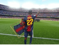 """Soccer, I Won, and Cancer: ABIDAL  unice Eric Abidal: """"The number on the left is the amount of times I've battled cancer. The number on the right is the amount of times I won."""""""