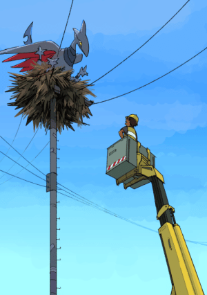 Tumblr, Blog, and Com: ablob:  skarmories and telephone poles