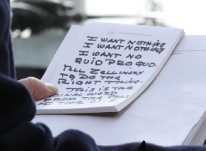The President's actual notes: ABOARD AIR FORCE ONE  WANT NOTMJ  H EANTNOTHIN  H SAXT NO  onaldTump thar aid t  tions  FELL ZeLL INGKA  7TRis is TAE  NAL wo2D  EROM THe Poc The President's actual notes