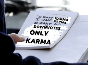 New presidential format I found on Twitter (Template in comments): ABOARD AR FORCE ONE  WANT KARMA  WANT KARMA  H SANT NO  DOWNVOTES  onaldTump thar aid r  tions  ONLY  KARMA  HHH New presidential format I found on Twitter (Template in comments)