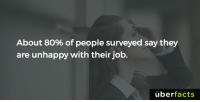 Memes, Uber, and 🤖: About 8o% of people surveyed say they  are unhappy with their job  uber  facts Womp... https://www.instagram.com/uberfacts/