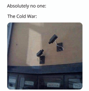 : Absolutely no one:  The Cold War:  WCTORIA  NICTO