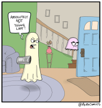 """Dad, Omg, and Tumblr: ABSOLUTELY  NOT  YouNG  LADY  TO  @Ry RyComics <p><a href=""""https://omg-images.tumblr.com/post/166723904567/that-ghost-dad-oc"""" class=""""tumblr_blog"""">omg-images</a>:</p>  <blockquote><p>That Ghost Dad [OC]</p></blockquote>"""