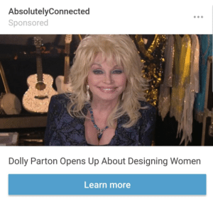 God, Jesus, and Tumblr: AbsolutelyConnected  Sponsored  Dolly Parton Opens Up About Designing Women  Learn more pissvortex: trans-jesus:  dorothyhatesyou:   pissvortex: Dolly Parton created women? damn she really did that I'll say it once and I'll say it again- Dolly Parton is a god and her breasts along with her voice fuel her powers.   don't like op's url  you got something to say