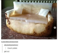 Couch, Potato, and Couch Potato: absolutelymadness:  Couch potato  get out Title