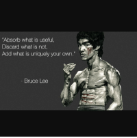 """Good Morning you lazy bitches: """"Absorb what is useful  Discard what is not,  Add what is uniquely your own.""""  Bruce Lee Good Morning you lazy bitches"""