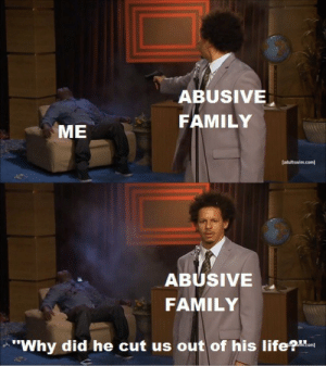 "Family, Life, and Com: ABUSIVE  FAMILY  ME  adultswim.com]  ABUSIVE  FAMILY  ""Why did he cut us out of his life?"""