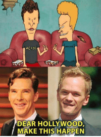 Dank, 🤖, and Ac Dc: AC DC  DEAR HOLLYWOOD,  MAKE THIS HAPPEN These two played All and all is all. Beavis and Butt-Head http://9gag.com/gag/aZBYzep?ref=fbpic