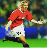 Happy 40th birthday to Ragnhild Gulbrandsen! The Norwegian striker won gold at the 2000 @olympics, scoring in the 3-2 final win against the USA. At the FIFA Women's World Cup 2007, Gulbrandsen scored six goals and won the @adidas Bronze Shoe award. HappyBirthday Gulbrandsen Norway Norge FIFAWWC Olympics @fotballandslaget: AC Happy 40th birthday to Ragnhild Gulbrandsen! The Norwegian striker won gold at the 2000 @olympics, scoring in the 3-2 final win against the USA. At the FIFA Women's World Cup 2007, Gulbrandsen scored six goals and won the @adidas Bronze Shoe award. HappyBirthday Gulbrandsen Norway Norge FIFAWWC Olympics @fotballandslaget