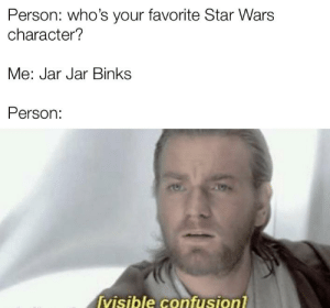 Accept me because it's a prequel character: Accept me because it's a prequel character