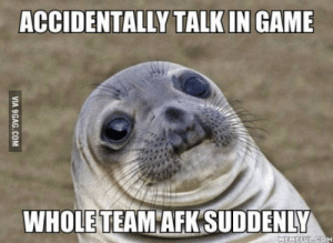 Im a girl gamer CS:GO most of the time: ACCIDENTALLY TALK IN GAME  WHOLE TEAM AFK SUDDENLY  MEMEEULCOM Im a girl gamer CS:GO most of the time