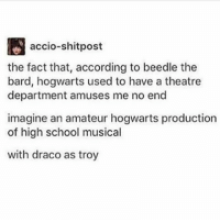 Accio-Shitpost the Fact That According to Beedle the Bard Hogwarts